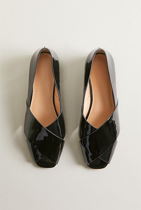 ecc7a1c5f ... Cecilia Patent Leather Peep Toe ...