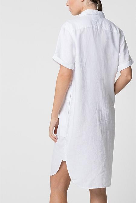 126da7f63df Linen Shirt Dress ...