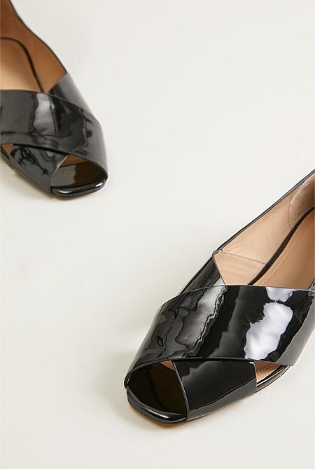7690a8366 Cecilia Patent Leather Peep Toe