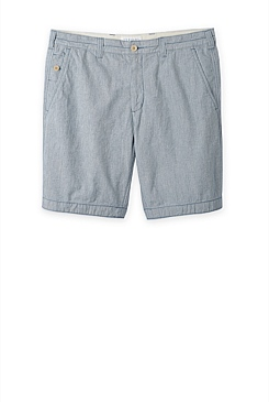 Textured Indigo Short