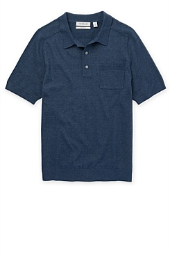 Linen-Cotton Knitted Polo