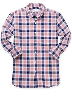 Italian Textured Double Checked Shirt