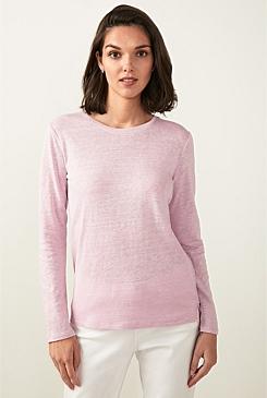 39271e9d Long Sleeve Linen Cotton T-Shirt. Add to Wishlist