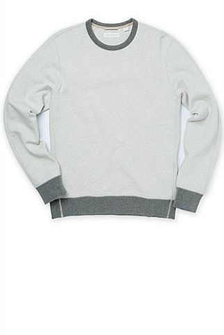 Contrast Ribbed Sweat
