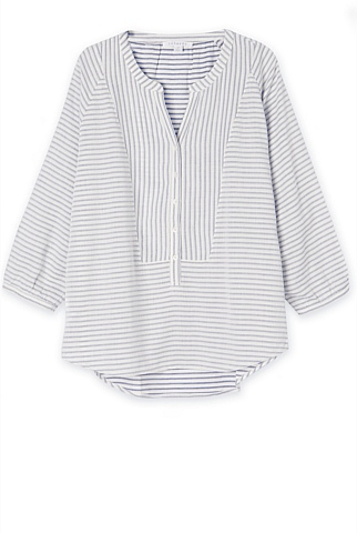 Striped Cotton Blouse