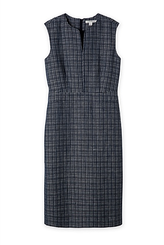Yarn Dyed Textured Sheath Dress