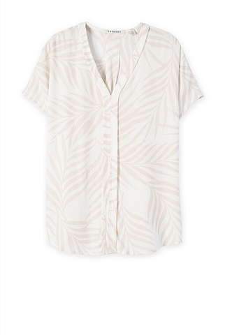 Frond Print Blouse