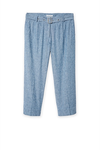 Relaxed Chambray Linen Cotton Pant