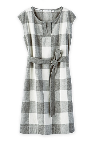 Gingham Cotton Linen Dress