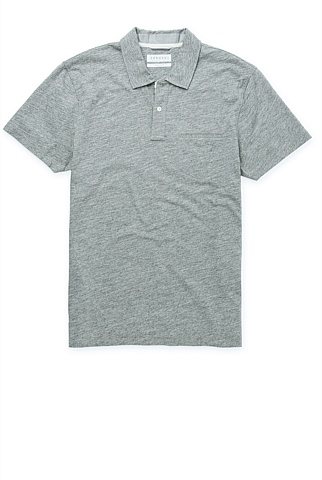 Speckled Marle Pima Cotton Polo