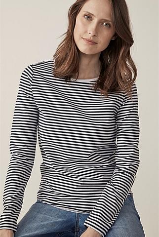 Organic Cotton Stripe Long Sleeve T-Shirt