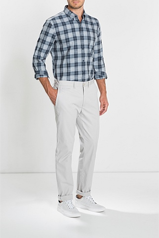 Tonal Melange Checked Shirt