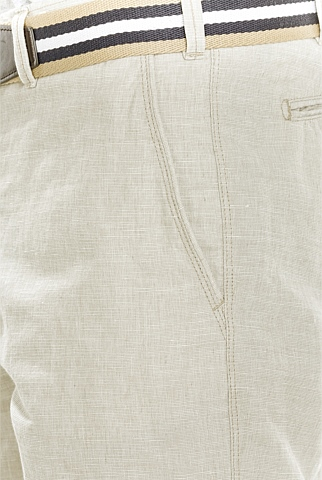 Modern Linen Cotton End on End Short
