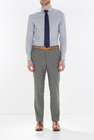 Modern Basketweave Checked Trouser