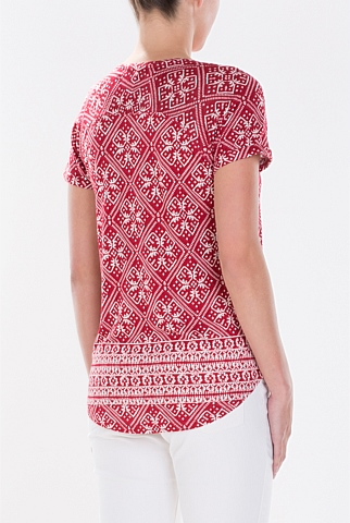 Textured Tapestry Print T-Shirt