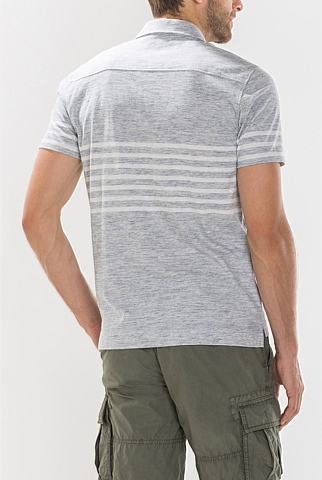 Placement Stripe Pima Cotton Polo