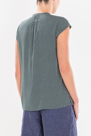 Weave Print Shell Top