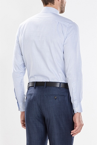 Modern Jacquard Mini Gingham Shirt