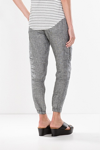 Yarn Dyed Linen Utility Pant