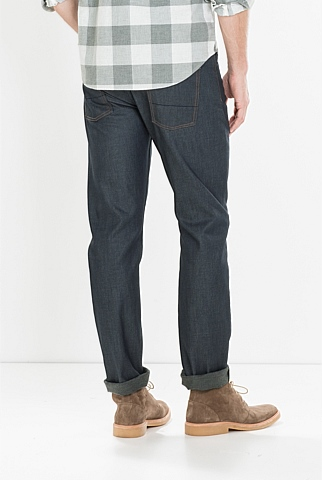 Slim Straight Dark Coated Jean