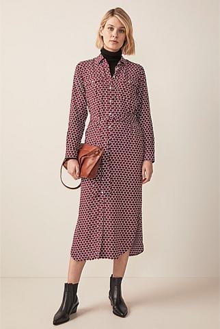 Geometric Spot Print Dress