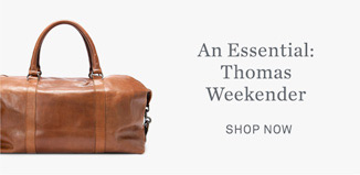 An Essential: Thomas Weekender - Shop Now