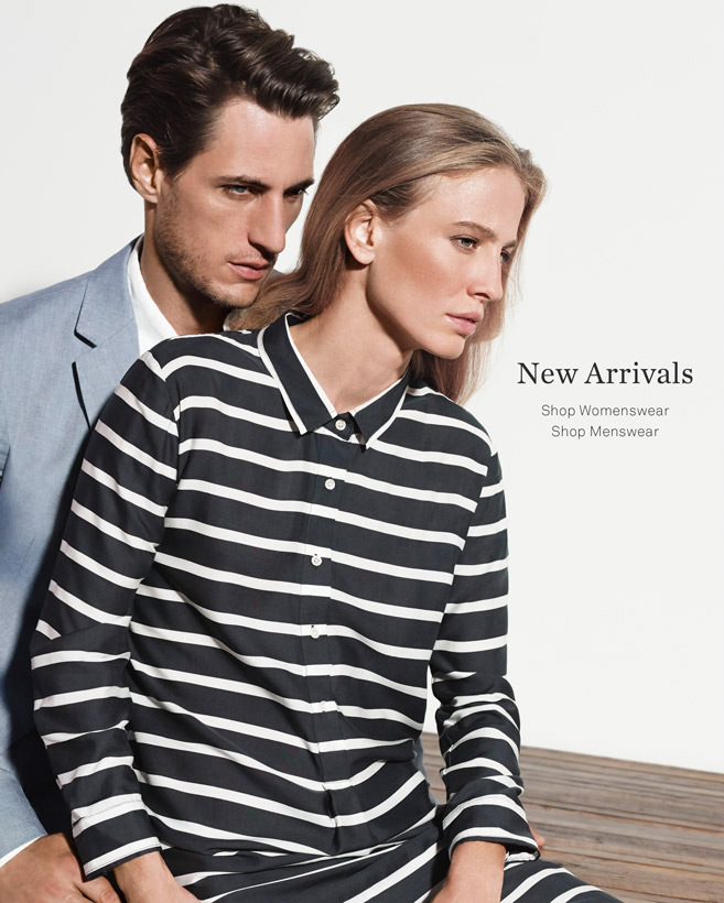 New Arrivals. Shop Womenswear or Menswear