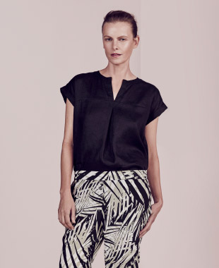 Tropical Prints - Resort prints and a relaxed mood are enhanced by flattering silhouettes and natural fabrications.