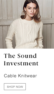 The Sound Investment: Cable Knitwear - Shop Now