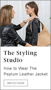 The Styling Studio. How To Wear The Peplum Leather Jacket. Watch Now